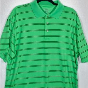 PGA Tour Lime Green & Black Shirt Size XL